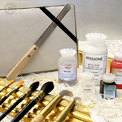 Gilding and Restoring Supplies and tools